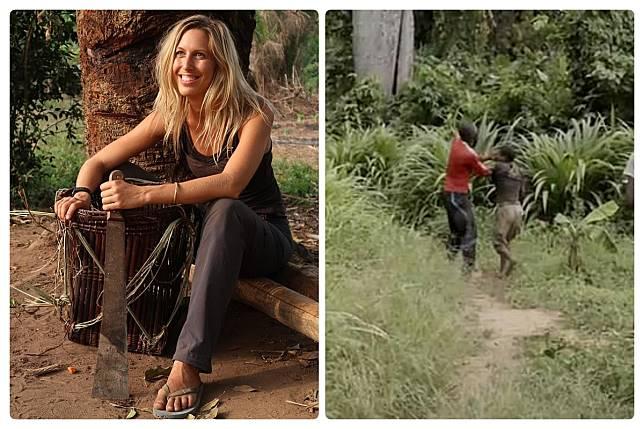 ▲英國實境節目莉維亞深入非洲剛果,紀錄當地部落的文化與衝突。(圖/翻攝DailyMail)