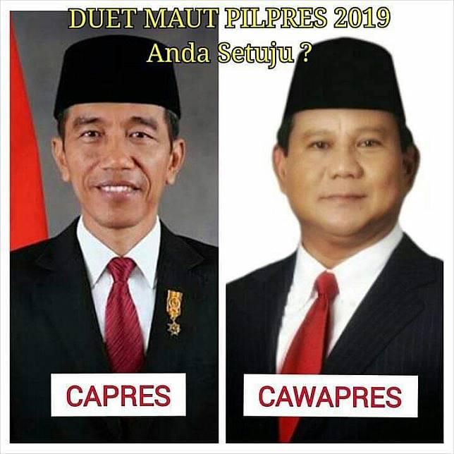 10 Meme Lucu Jokowi Prabowo Bikin Suasana Adem Jelang Pilpres
