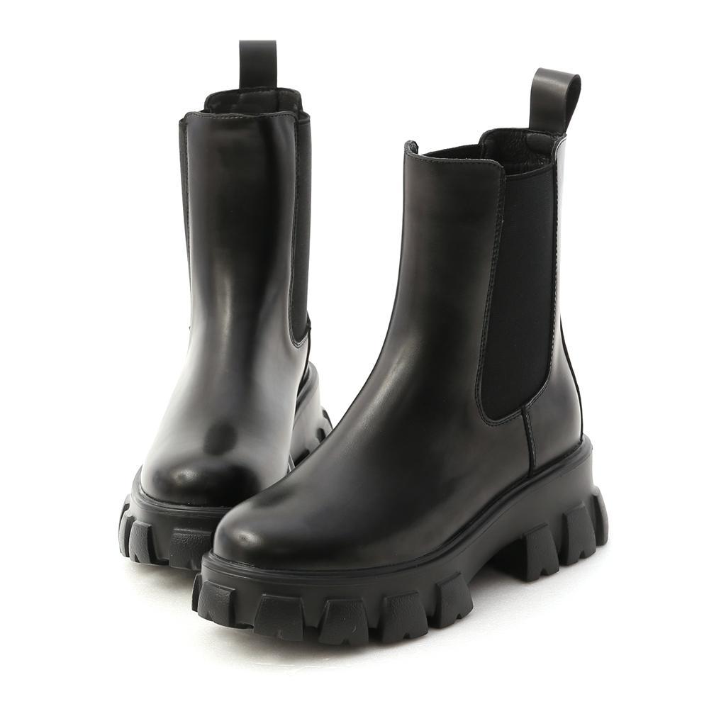 D+AF 暗黑焦點.超輕量切爾西鋸齒靴