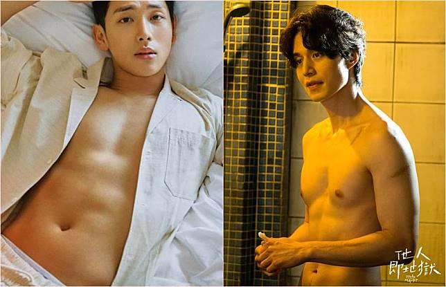任時完(左)、李棟旭(右)主演的新韓劇《他人即地獄》收視每集下降,就算露肌肉也無助收視。(合成圖/翻攝自韓網、愛奇藝台灣站提供)