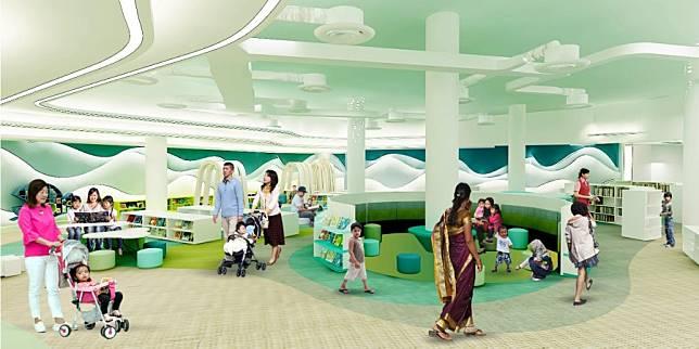 ภาพจำลองห้องสมุดสาธารณะ library@harbourfront โดยคณะกรรมการหอสมุดแห่งชาติของสิงคโปร์