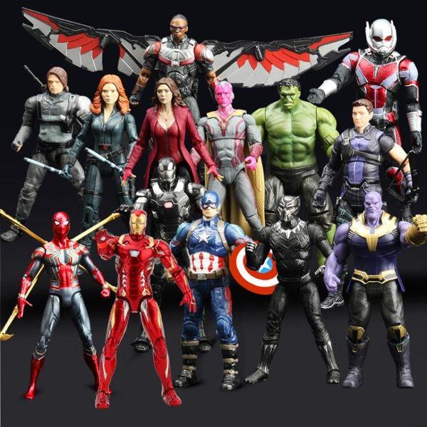 漫威復仇者聯盟4美國隊長鋼鐵俠蜘蛛俠模型擺件手辦玩具