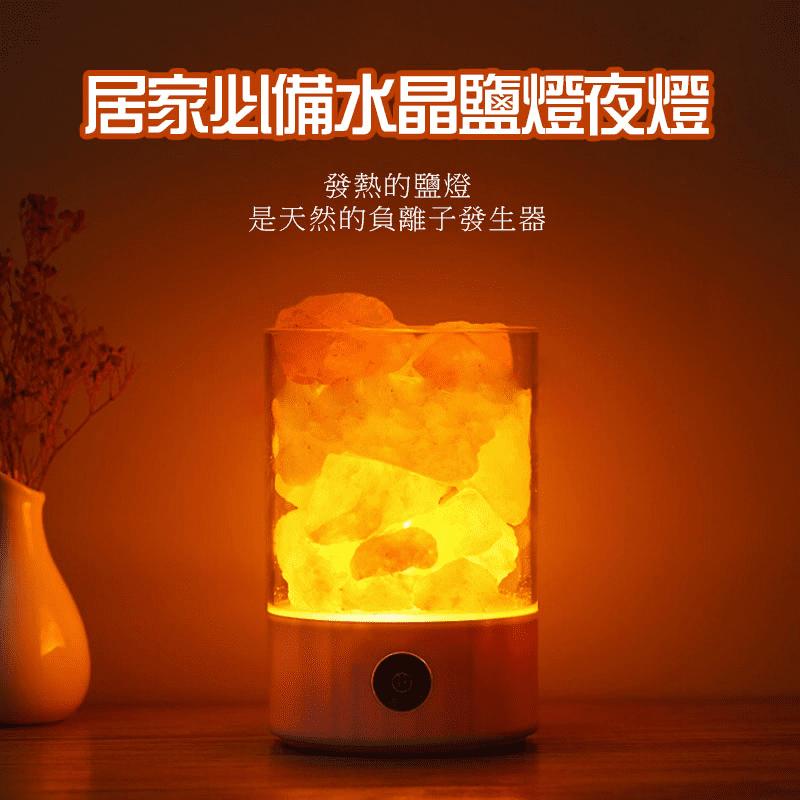 【Splaything生活百貨】居家必備水晶鹽燈夜燈,商品尺寸 94 x 94 x 141 MM,七彩夜燈、能亮度調節,含有80多種礦物質和微元素,能釋放負離子,是一盞純天然改善空氣、淨化心靈的燈,給