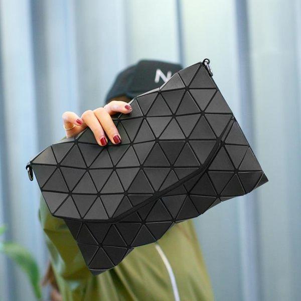 宴會包 手拿包女小包個性時尚氣質大容量信封包菱格幾何包手包小 【唯伊時尚】