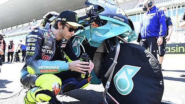 Valentino Rossi jelang balapan MotoGP Portugal di Sirkuit Portimao. (Dokumentasi Petronas Yamaha SRT)
