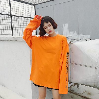 韓版長袖T恤~秋裝打底衫韓國套頭打底衫女男情侶復古長袖子Bigbang潮ZM028快時尚