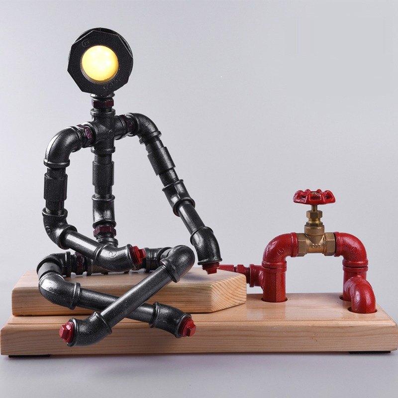 產品名稱:沉思者 尺寸規格:長42cm*寬13cm*高45cm 重 量:5kg 光 源:LED (冷光/暖光) 開 關:紅色手輪開關(切勿扭轉超大力) 電 壓:9v(附有電源適配器,支持110V--2