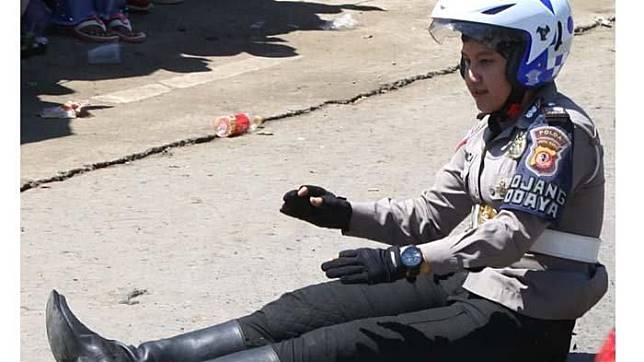 Bripda Monica, Polwan yang jatuh dari moge Harley-Davidson