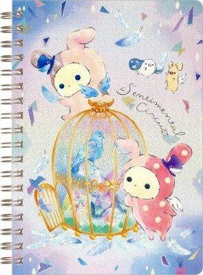 日本憂傷馬戲團鳥籠系列線圈筆記本731119通販屋