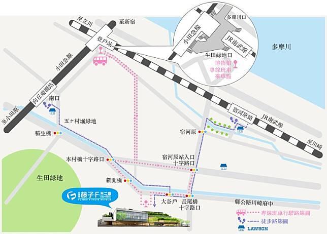 登戶站是JR南武線,轉搭小田急電鐵去「藤子‧F‧不二雄博物館」的必經站。(互聯網)