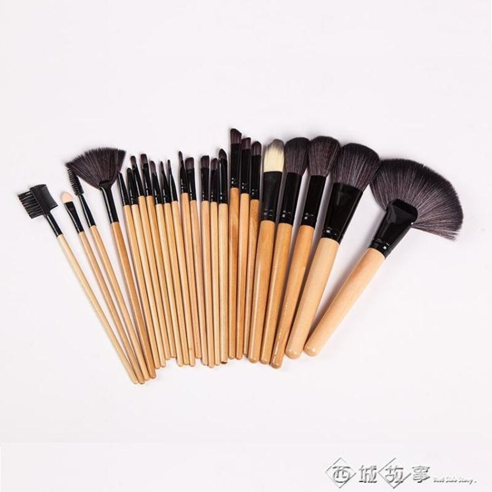 24支化妝刷套裝全套彩妝工具組合初學者眼影刷子黑粉色化妝筆32支 西城故事