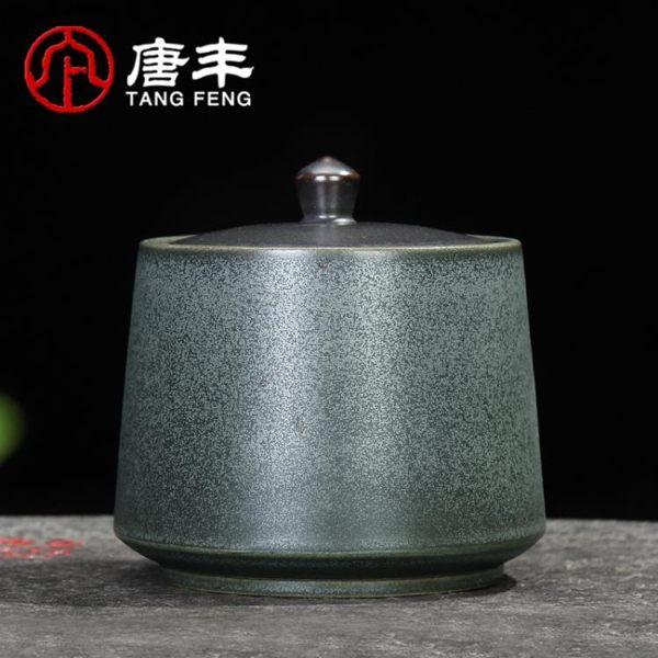 唐豐茶葉罐陶瓷茶具茶葉盒茶倉密封家用儲物罐普洱罐旅行存茶罐