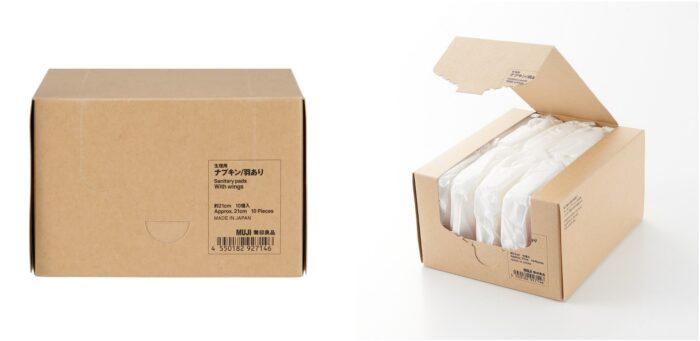 無印良品「有機衛生棉」內外包裝