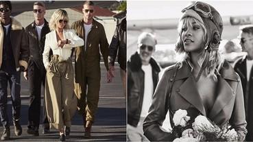 Rihanna 化身成女機師衝上雲霄!白色長裙隨風飄逸,簡直是美翻天!