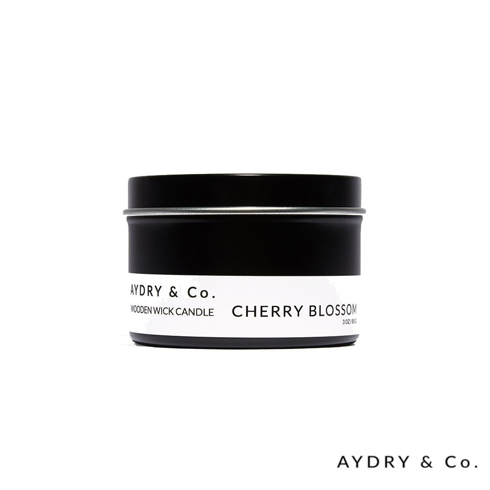 美國 AYDRY & CO. 天然手工木芯香氛 CHERRY BLOSSOM 日本櫻花 錫盒 85g