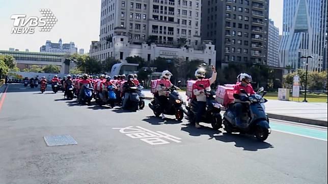 熊貓外送員發起全台罷工大串聯。(示意圖/TVBS)