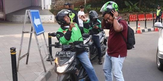Ojek Online di Jakarta. ©2020 Liputan6.com/Angga Yuniar