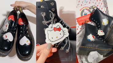 Dr. Martens 和「Hello Kitty」聯名了!超萌kitty厚底馬汀,爆炸可愛只能買了~