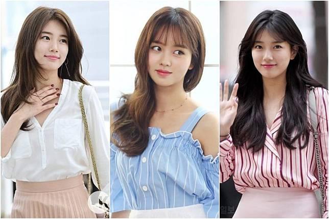 8 Model Rambut Panjang Ala Korea Untuk Wajah Bulat Agar Terlihat Seksi Dan Awet Muda Womantalk Com Line Today