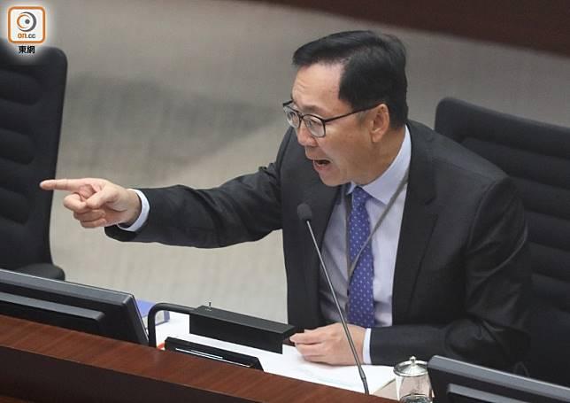 陳健波有份競逐新一屆財委會主席。(羅錦鴻攝)