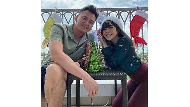 Tahun ini Gisella Anastasia merayakan Natal bersama sang kekasih di Singapura.