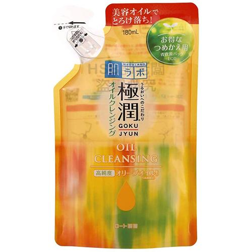 【帥老闆】日本 ROHTO 樂敦 肌研 極潤 保濕 卸妝油 補充包 180ml