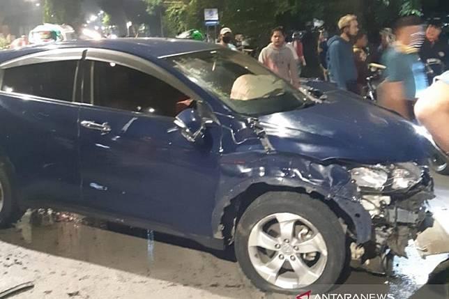 Penabrak tiga pemotor di Jaktim jadi tersangka tapi tidak ditahan