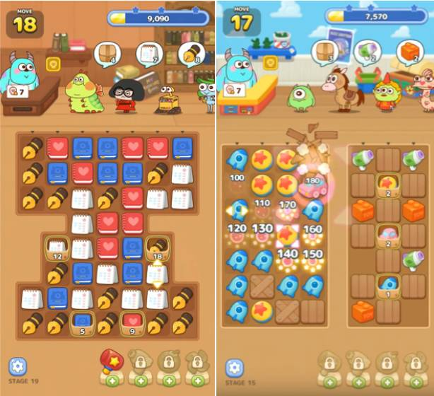 玩法類似Candy Crush,不過玩家要將貨物連成一線,而不是移動來消除。
