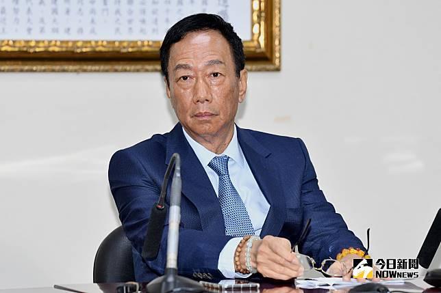 鴻海董事長郭台銘。(圖 / 記者林柏年攝,2019.05.13)
