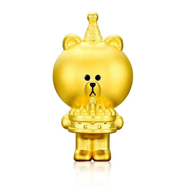 新店特別預留全球限量18隻「Birthday BROWN特別版黃金擺件」的其中兩個訂購名額。