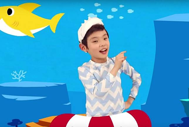 The animated video of 'Baby Shark' by Pinkfong