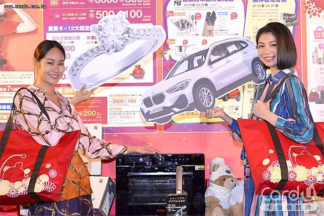 新光三越台北信義新天地2020年福袋抽價值185萬BMW X1 sDrive18i,為百貨業最強(圖/卡優新聞網)