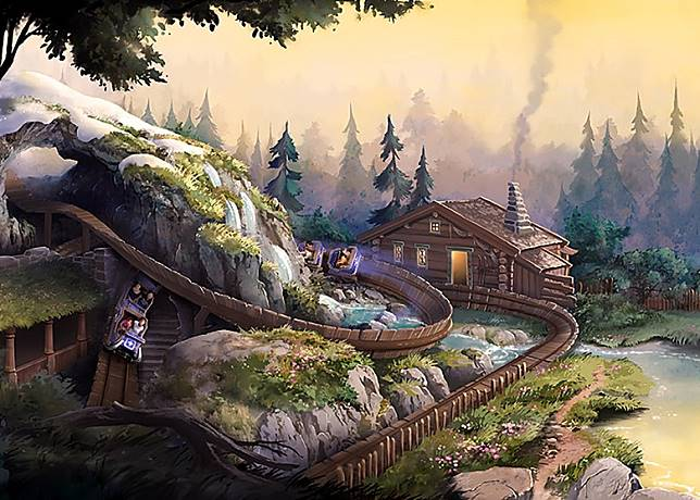 另一個全新園區「魔雪奇緣」,將新增兩項全新娛樂設施。(迪士尼提供)