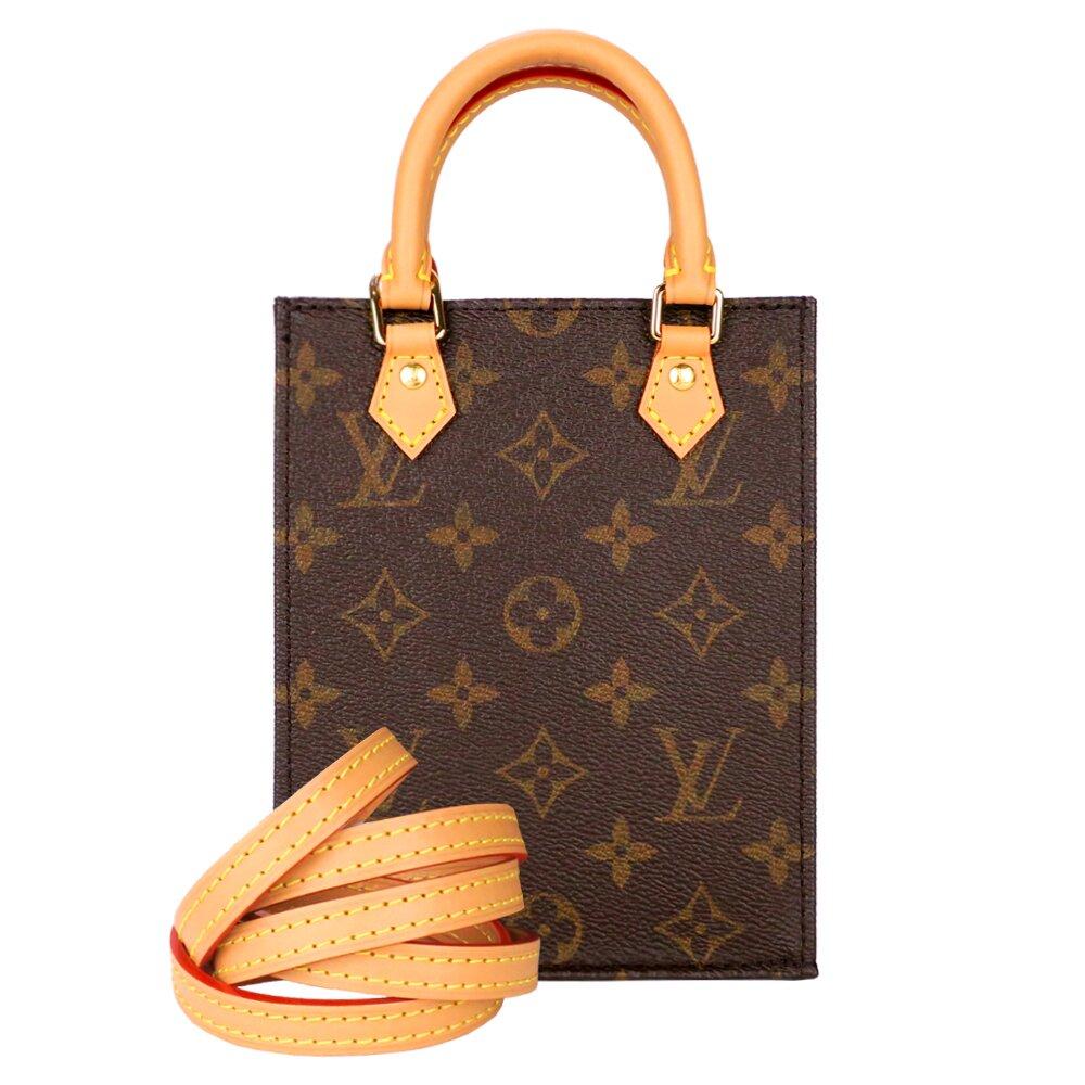 Louis Vuitton PETIT SAC PLAT 迷你手提斜背包(印花棕)