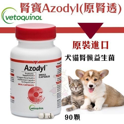 *KING WANG*法國威隆Vetoquinol《腎寶Azodyl(原腎透)》90顆 腎臟益生菌 犬貓營養品