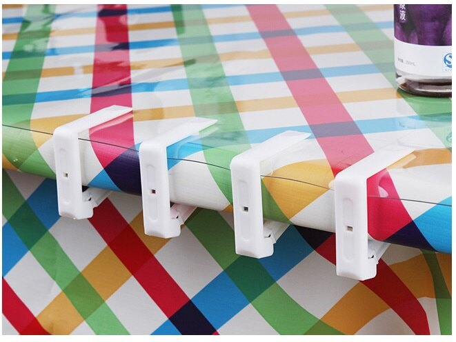 【露營趣】TNR-100 透明 桌布夾 桌巾夾 蛋捲桌 休閒桌 野餐桌 竹板桌 料理桌 白金廚房 摺疊桌