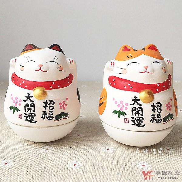 品牌:堯峰陶瓷客人看過來~凡購買 堯峰陶瓷 的商品,並點選關注我們,留下「五星級評價+開箱文照片」,即送您回饋金「$20元」~【商品特點】招財進寶 招財貓不倒翁--大款單入(虎斑貓/三色貓)桌面擺飾|