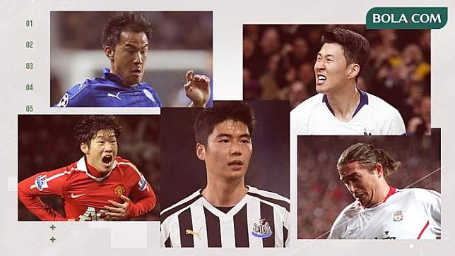 Park Ji-sung, Shinji Okazaki, Son Heung-min, Harry Kewell dan Ki Sung-yueng