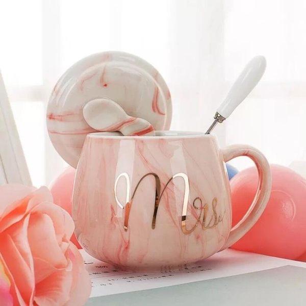 創意馬克杯帶蓋勺潮流個性杯子女陶瓷Ins北歐水杯家用牛奶咖啡杯 滿天星