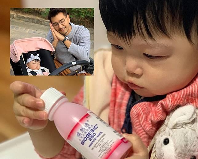 陳展鵬爆愛女「小豬比」陳諾瑤唔舒服。
