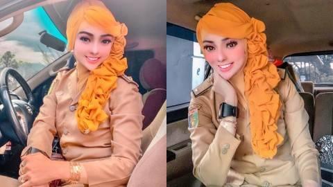 Viral PNS Berdandan ala Barbie saat ke Kantor, Netizen Salfok dengan Dagunya