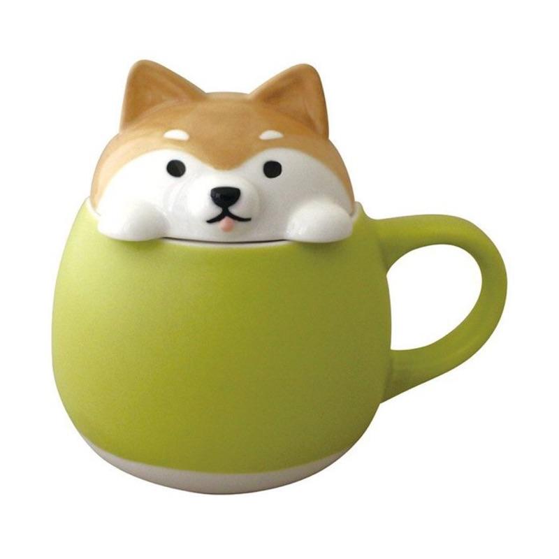 《齊洛瓦鄉村風雜貨》DECOLE 動物馬克杯造型 附日本正版皮卡丘湯匙 糖罐 鹽罐 柴犬 貓咪 刺蝟 獨家搭配