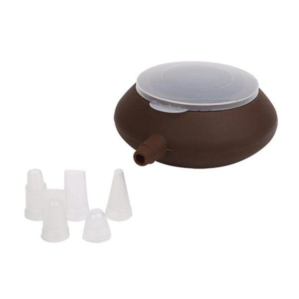 巧克力烘焙工具翻糖蛋糕奶油裱花器 家庭diy做蛋糕工具帶5裱花嘴