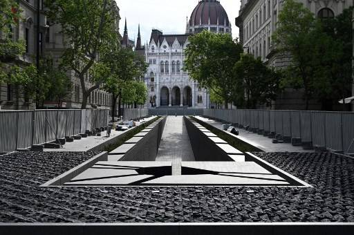 A picture taken on May 26, 2020 in Budapest, shows a view of the