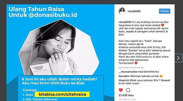 Ulang Tahun, Raisa Berharap Hadiah Rp27 Juta   Bintang.com   LINE TODAY