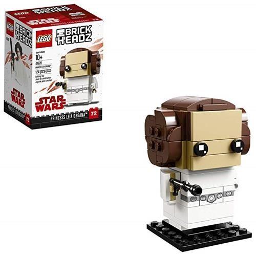 LEGO 樂高 6225350 Brickheadz Princess Leia Organa 41628 Building Kit, Multicolor