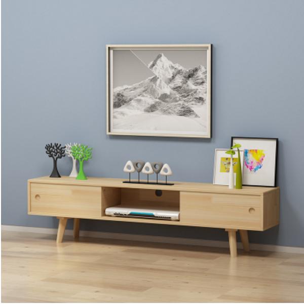 電視櫃 桌子 收納櫃 置物櫃 1.8米 簡約單個電視櫃 日式 現代臥室北歐實木小戶型電視機櫃地櫃
