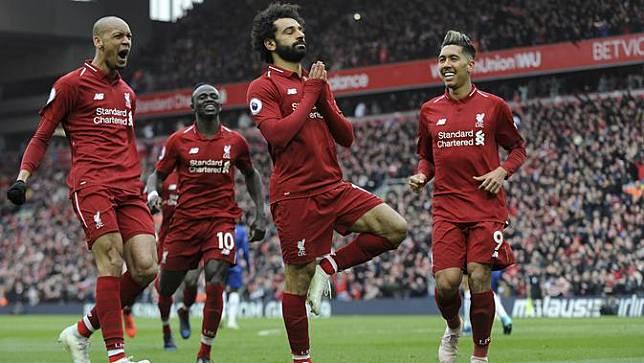 Selebrasi Gol Ikonik Mohamed Salah di Liverpool