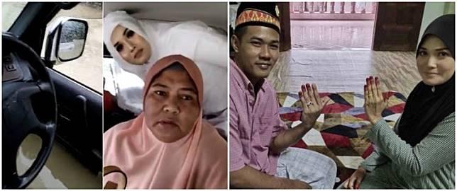 Mobil terjebak banjir, pengantin ini terpaksa tunda akad nikah
