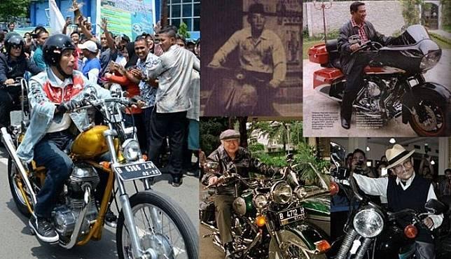 Presiden Indonesia dan sepeda motornya.